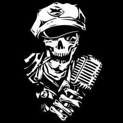 shirt skull singer black sublimation