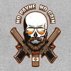 tee shirt No payne no gain parody max payne gray sublimation