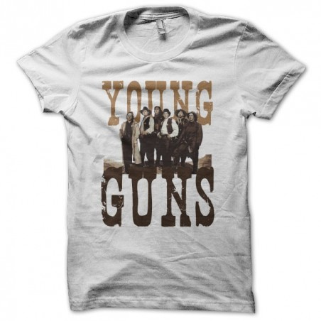 Young Guns white sublimation t-shirt