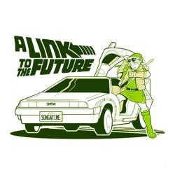 A link to the future white sublimation tee shirt