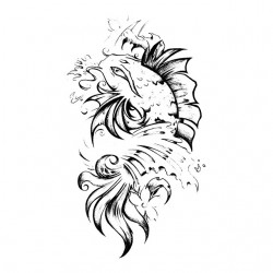 tee shirt koi fish tattoo...