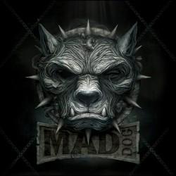 Mad dog black sublimation t-shirt