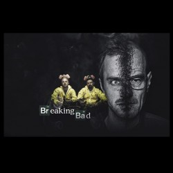tee shirt Breaking bad poster black sublimation