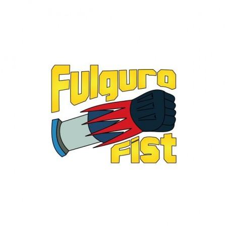 Goldorak parody T-shirt Fulguro Fist white sublimation