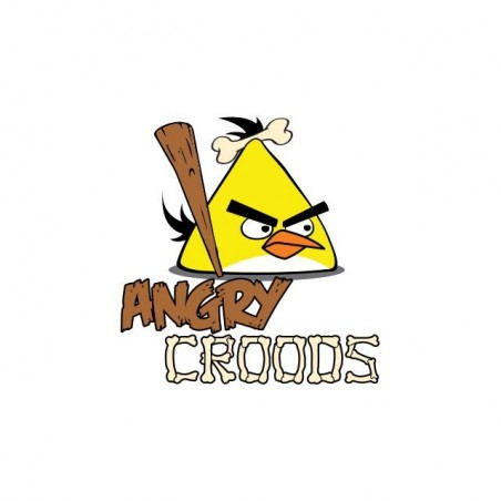 Tee shirt The Croods parodie Angry Birds  sublimation