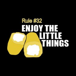 rule 32 t-shirt enjoy the little things black sublimation