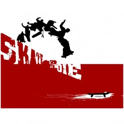 tee shirt skate or die white sublimation