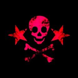 tee shirt skulls star pink...