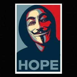 Tee shirt hacktivistes Anonymous hope   sublimation