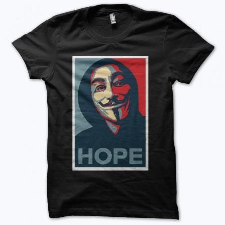 Hacktivists Anonymous hope black sublimation t-shirt