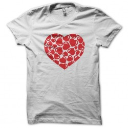 love heart t-shirt white sublimation