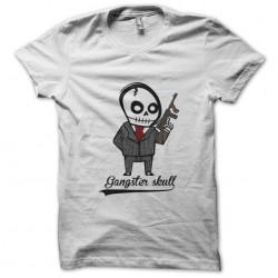 shirt Gangster Skull white...