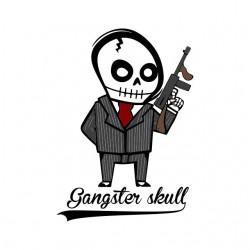 shirt Gangster Skull white sublimation