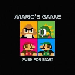 T-shirt Mario Black Eyed Peas black parody sublimation