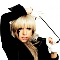 shirt Lady Gaga show white...