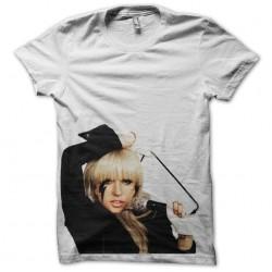 shirt Lady Gaga show white sublimation