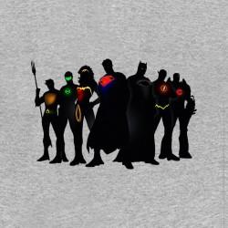 justice league shirt super heros comics gray sublimation