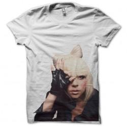 shirt lady gaga white sublimation