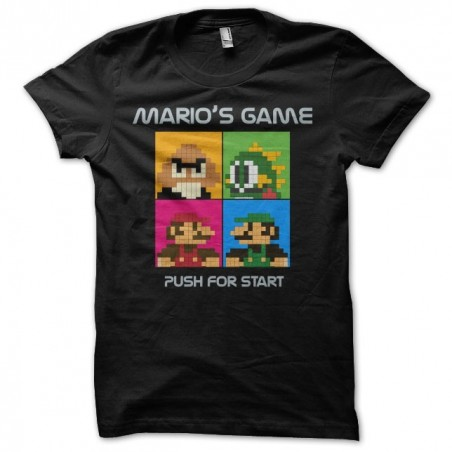 Tee shirt Mario Black Eyed Peas parodie  sublimation