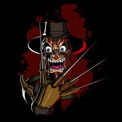 Freddy t-shirt in black cartoon sublimation