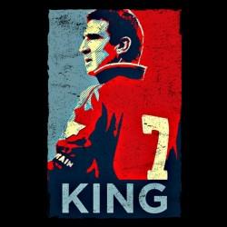 shirt Cantona 7 king black sublimation