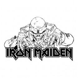 Iron maiden white...