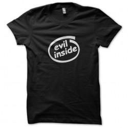 evil inside black t-shirt...