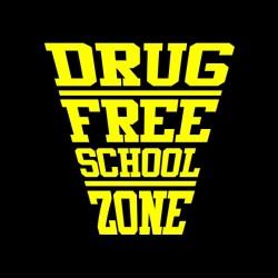 drug free school t-shirt zone black sublimation