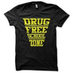 tee shirt drug free school...