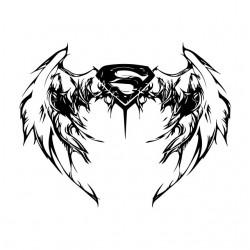 t-shirt superman wing...