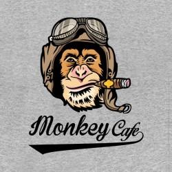 tee shirt monkey cafe racing pilot american version gray sublimation