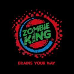 t-shirt zombie king parody burger king black sublimation