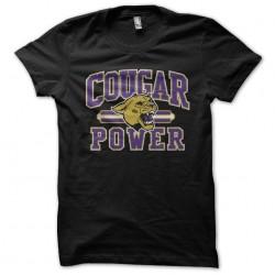 tee shirt cougar power black sublimation