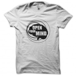 tee shirt open your mind white sublimation