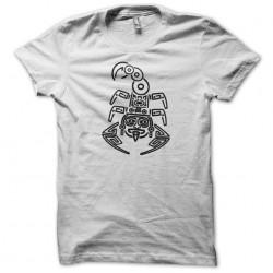t-shirt maori white scorpion sublimation