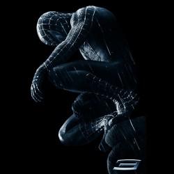 tee shirt spiderman black sublimation