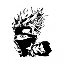 kakashi t-shirt of artistic...