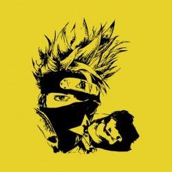 t-shirt kakashi naruto artistic yellow sublimation