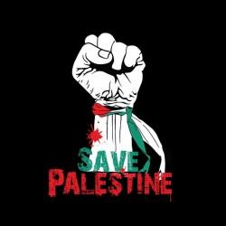 save palestine t-shirt black sublimation