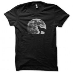 tee shirt loup pleine lune...