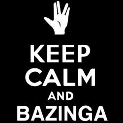 tee shirt keep calm and bazinga  sublimation