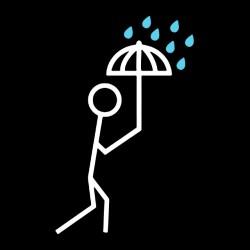 tee shirt it's raining out the umbrellas black sublimation