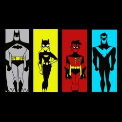 Batman t-shirt characters black sublimation