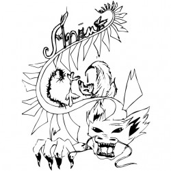 t-shirt dragon anime white sublimation