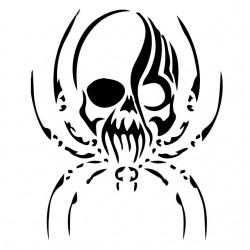 tee shirt skull spider...