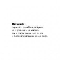 Tee shirt Dikkenek définition  sublimation