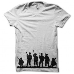 t-shirt silhouette of soldiers with white forehead sublimation