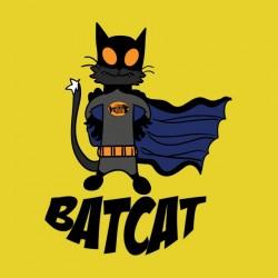 Bat Cat shirt yellow sublimation
