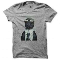 t-shirt karl lagerfield version dog gray sublimation