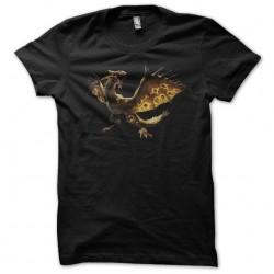 t-shirt dargon d gold black...